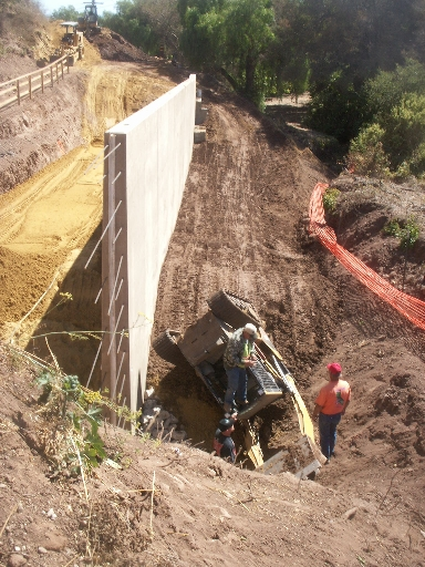 Caltrans Retaining Wall on Route 192 Price Doubles